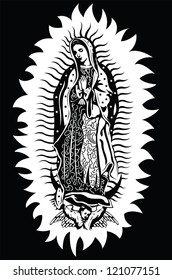 The Virgin of Guadalupe - vector