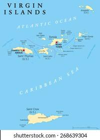 British Virgin Islands Map Images, Stock Photos & Vectors | Shutterstock