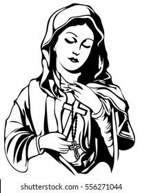 Virgin Maria Vector Tattoo