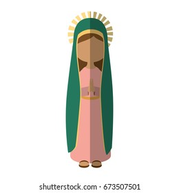 Virgin mary cartoon