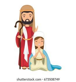 virgin mary and saint joseph icon