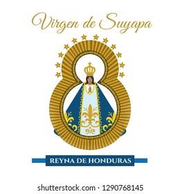 Virgin of Suyapa Vector illustration