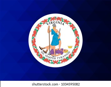 Virginia Flag vector illustration. Virginia Flag. National Flag of Virginia. Mosaic flag. Vector
