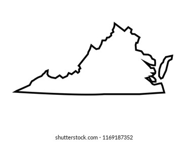 Outline Map Of Virginia.Blue Abstract Outline Virginia Map Stock Vector Royalty Free