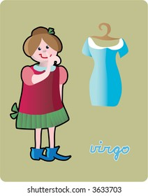 Virgo - collection of 12 children horoscopes and characters