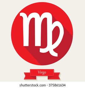 Virgo zodiac sign.Zodiac icon.Vector illustration.