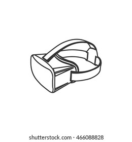 Virtual 3d reality VR goggles vector illustration