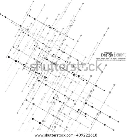 Virtual Abstract Background Particle Molecule Structure Stock Vector