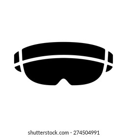 virtual and augmented reality headset goggles flat vector icon for apps, games for websites