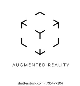 Virtual augmented reality icon. Concept AR symbol. Vector illustration isolated on white background