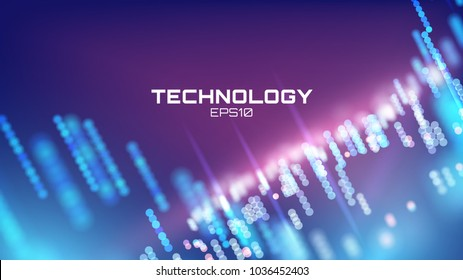 Virtual cyberspace tehcnology background. Cyber hud tech. Futurisic interface