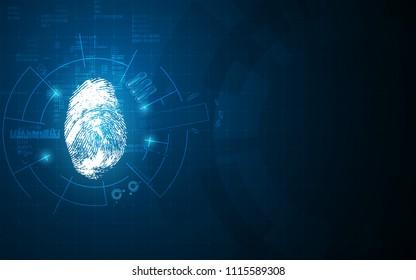 virtual identification hud system design hi tech concept eps 10 vector
