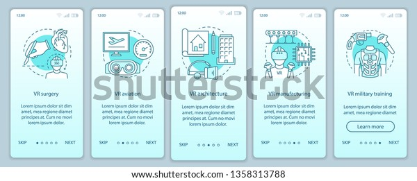 Virtual Industry Onboarding Mobile App Page Stock Vector
