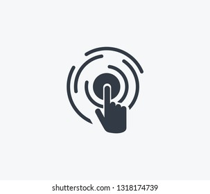 Virtual interactive control icon isolated on clean background. Virtual interactive control icon concept drawing icon in modern style. Vector illustration for your web mobile logo app UI design.