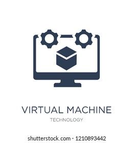 Virtual Machine icon. Trendy flat vector Virtual Machine icon on white background from Technology collection, vector illustration can be use for web and mobile, eps10