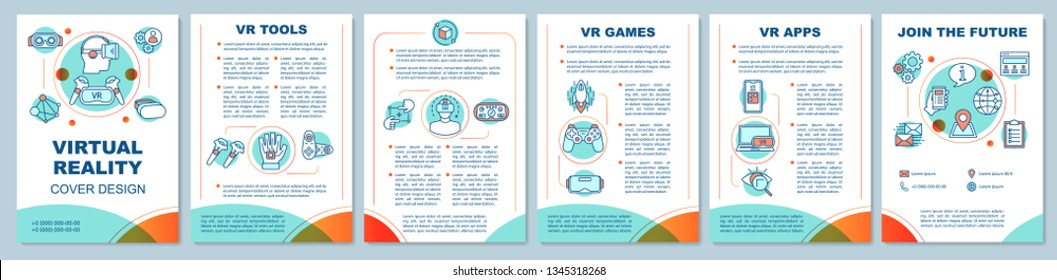 d8fa50b12136 Virtual reality brochure template layout. VR games