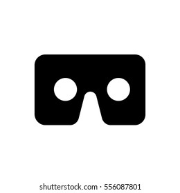 Virtual reality cardboard glasses icon vector, solid logo illustration, pictogram isolated on white