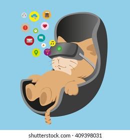 Virtual reality cat