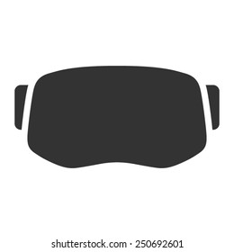 Virtual reality gaming and entertainment headset icon