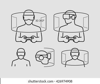Virtual Reality Glasses Icons