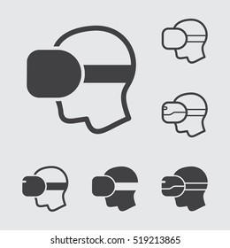 Virtual Reality glasses Icons Set