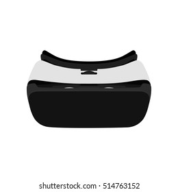Virtual reality glasses vector illustration. Virtual reality headset isolated on white background.
