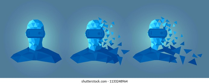 virtual reality goggles low poly design