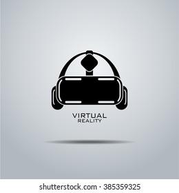 Virtual reality headset icon, flat design, vector,  icon,design, black& white, eps, VR