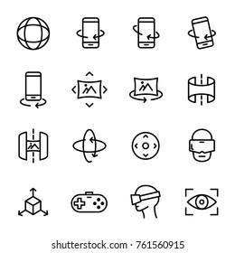 Virtual Reality Icons Set. Web Icon Of Virtual Reality