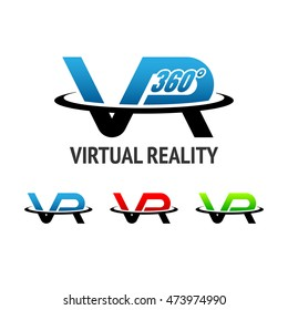 "Virtual reality logo or icon.""VR"" alphabet"