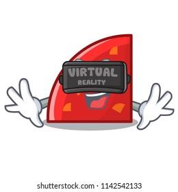 Virtual reality quadrant mascot cartoon style