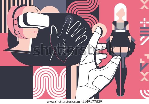 virtual reality, virtual sex, digital girl