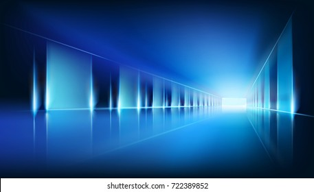 Virtual space. Vector illustration.