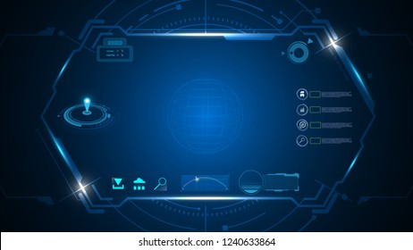 virtual ui screen hi tech sci fi concept background template infographic eps 10 vector