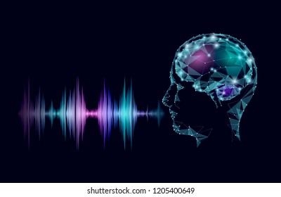 Virtual voice computer online assistant concept. Voice sound recognizer help service business smartphone chatbot technology. Artificial intelligence vector illustrator