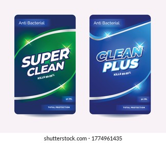 Virucidal and bactericidal cleaner label