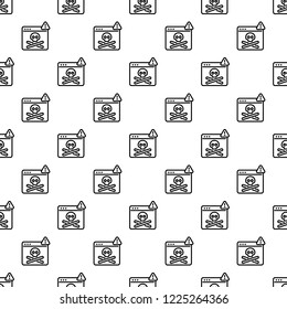 Virus computer danger pattern seamless repeat background for any web design