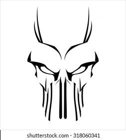 Virus. Virus computer. Demon. Phantom. Alien. Predator. Artwork. Suitable for team identity, insignia, emblem, illustration for apparel, mascot, motorcycle community, icon, etc