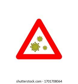 Virus corona vector illustration icon template design