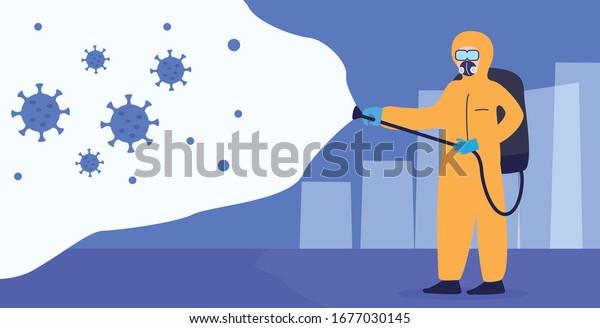 Virus Coronavirus Disinfection Illustration Vector Concept