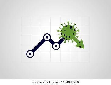 Virus hits market. Shares fall down. Markets plunging. Economic fallout. 2019 Novel Coronavirus outbreak. 2019-nCoV. Covid-19.