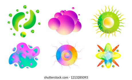 Viruses vector set. White Background.