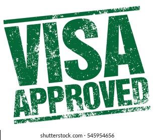 Visa Approved stamp