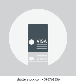 Visa icon. Visa Vector flat style. Visa vector illustration. Flat design web banner, web site. Concept tourism, travel, holiday, immigration, approved.