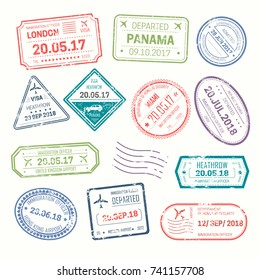 Visa stamps that put at airport by Customs