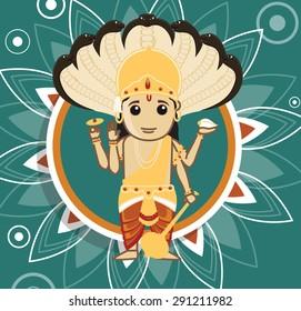 Vishnu - Hindu god of Creation