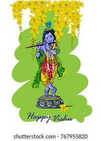 vishu festival kerala vector illustration