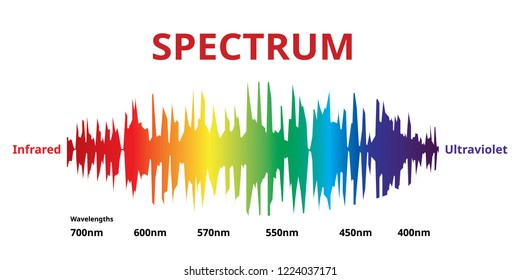 Visible Spectrum Wave That Visible to the human eye, Sunlight color,  Vector