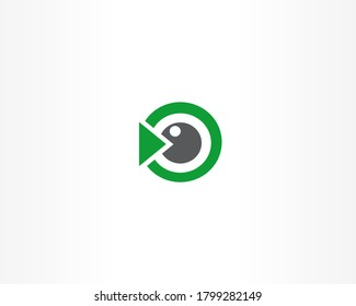 Vision concept vector logo design template