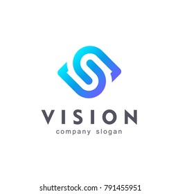 Vision. Eye logo. Video control sign. Smart business solution. Sign Photography